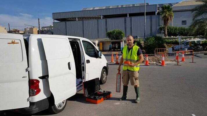 Localización de Fuga de Agua en Parking de la Estación de Renfe en Alicante